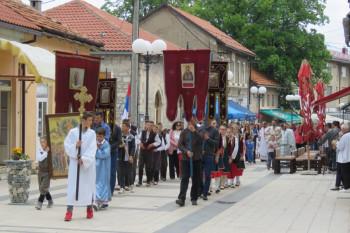 Krsna slava Nevesinja i Sabornog hrama: Vladika Dimitrije služi za Spasovdan
