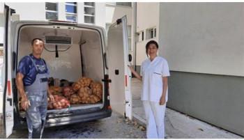 Agrarni fond Bolnici Trebinje donirao 1,5 tona krompira