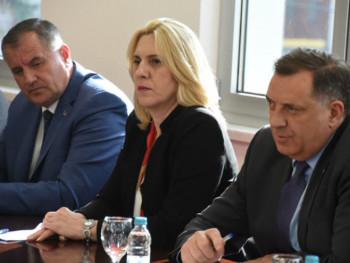 Cvijanović, Dodik i Višković u Bijeljini