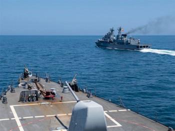 Američki razarač Labun napušta Crno more