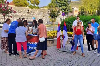 U Trebinju se nastavlja potpisivanje peticije protiv Inckove odluke