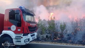 Кашиковић: Пожар под контролом, гори ниско растиње