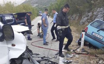 Detalji nesreće na magistralnom putu Trebinje -Ljubinje