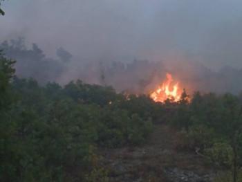 Пожар близу кућа у селу Зупци