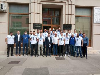 Gradonačelnik Ćurić organizovao prijem za igrače, članove stručnog štaba i rukovodstvo RK Leotar