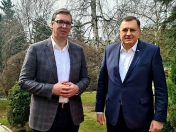 Dodik na sastanku sa Vučićem