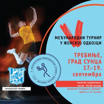 Omladinski OK  ''Leotar'' organizuje tradicionalni 5. Međunarodni Vidovdanski turnir u ženskoj odbojci