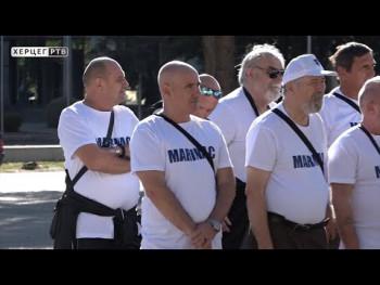 Evociranje uspomena na vojničke dane: 4. skup marinaca u Trebinju(Video)