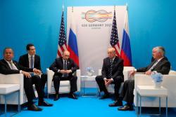 """Састанак Путина и Трампа трајао два и по сата, било ријечи и о """"руском мијешању у изборе"""""""
