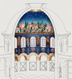 EKSKLUZIVNO: Ovako će izgledati oslikan Hram Vaskresenja u Prebilovcima