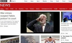 Praljak glavna vijest BBC-a i drugih svjetskih medija