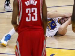 Tompson igra u prvoj utakmici finala NBA lige