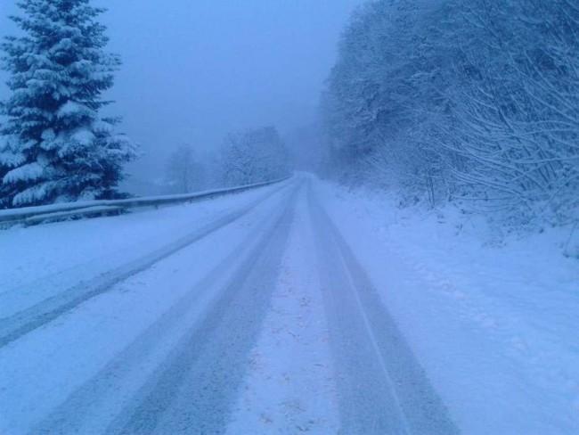 snijeg otežava saobraćaj na svim putnim pravcima herceg televizija