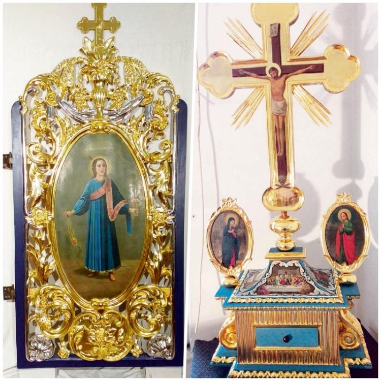 Bočne dveri iz crkve Svetog Đorđa u Temišvaru (1) i darohranilica iz crkve kod Segedina (2)